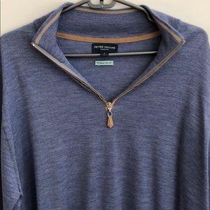 Peter Millar - Men's Merino/Silk 1/4-Zip Sweater